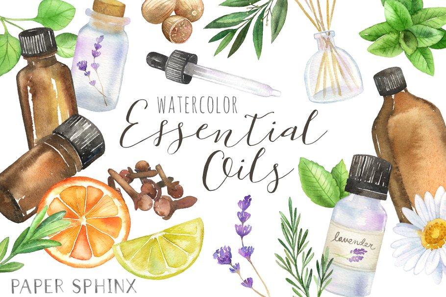 Essential Oils Clipart Pack.