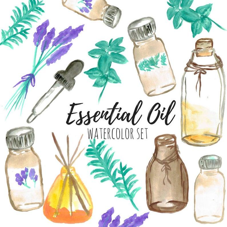 Essential Oil Clip Art.