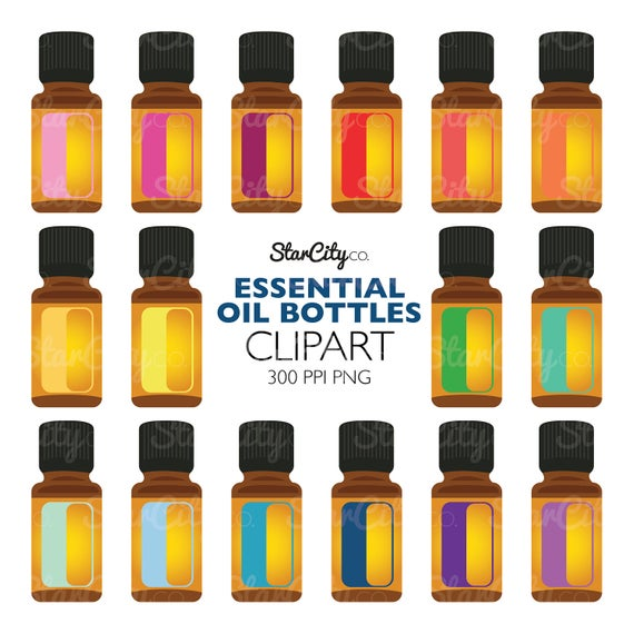 Essential oil clipart, EO Clip Art, Essential oil Graphics, Aromatherapy  clipart, Artwork for stickers, Commercial Use, instant download.