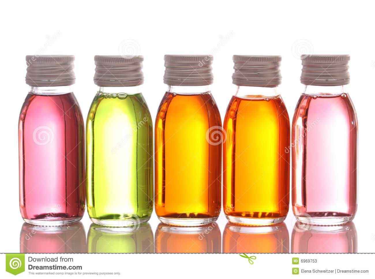 Bottles With Essential Oils Stock Photos.