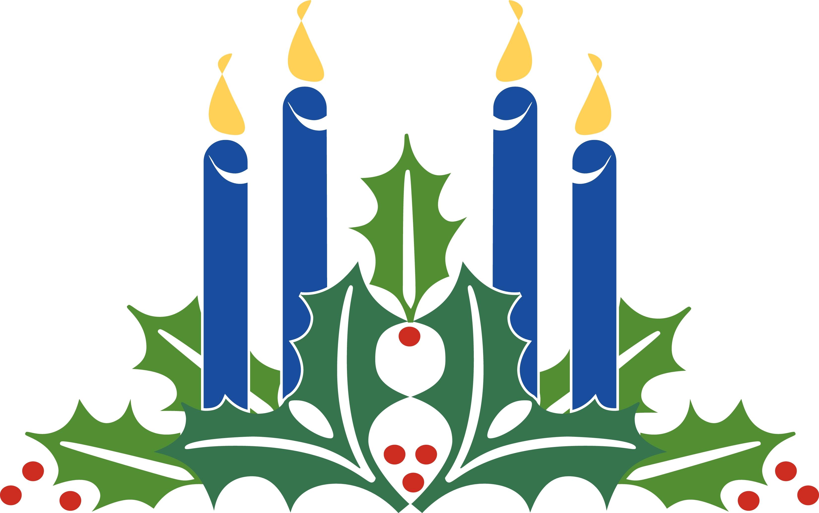 Clipart of advent wreath on christmas eve.