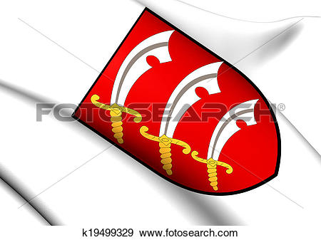 Stock Illustration of Essex Coat of Arms, England. k19499329.
