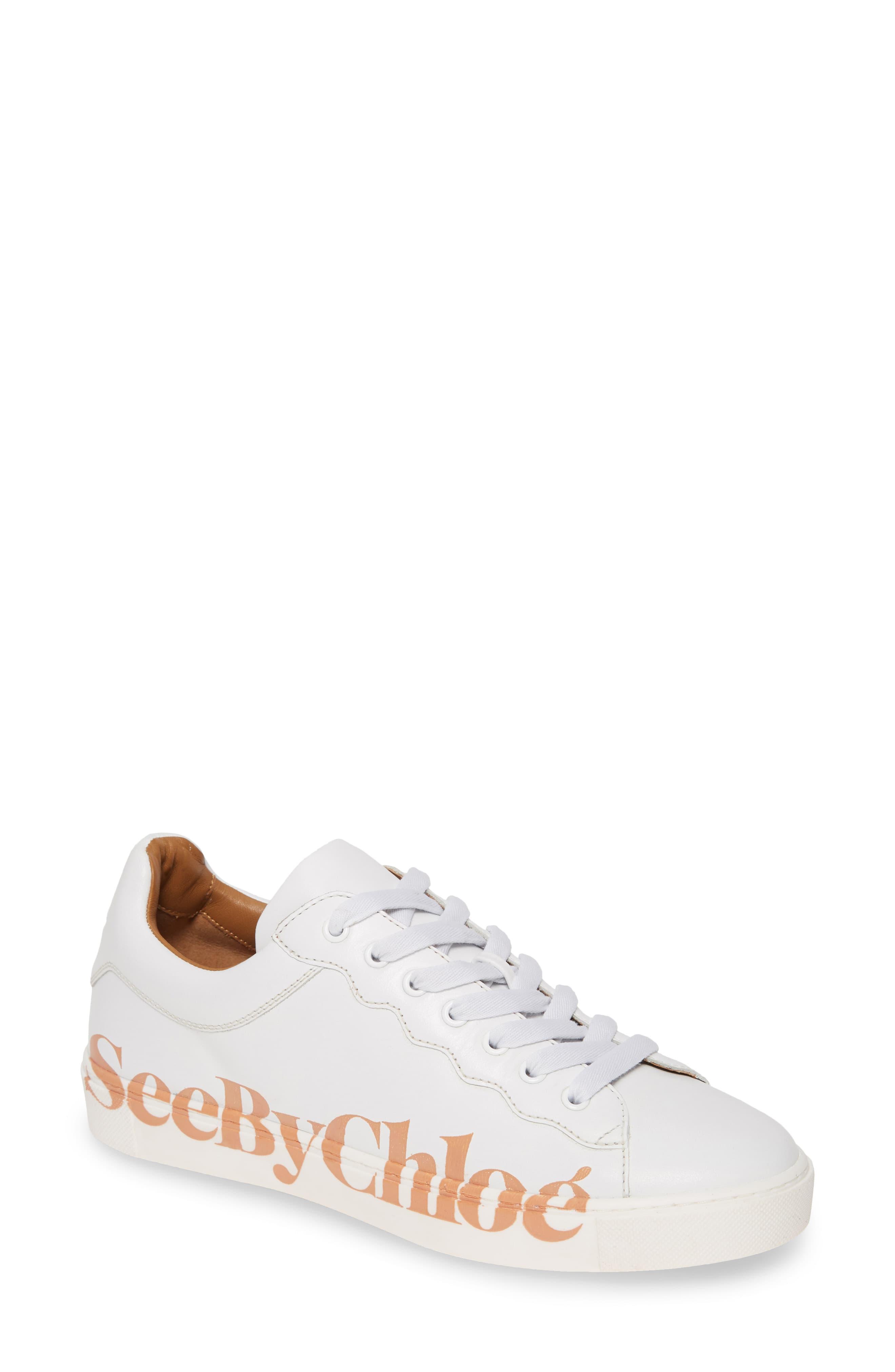 Women\'s See By Chloe Essie Logo Low Top Sneaker, Size 5US / 35EU.