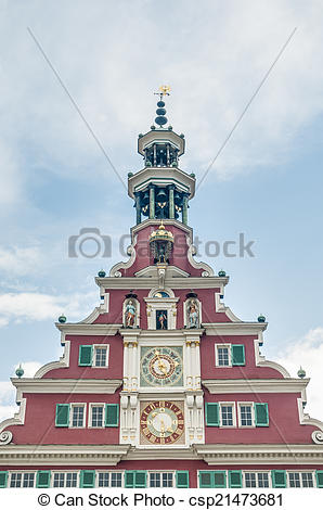Pictures of Old Town Hall in Esslingen Am Nechar, Germany.