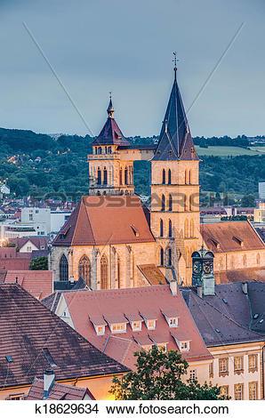 Stock Photo of Church of Saint Dionysius in Esslingen am Neckar.