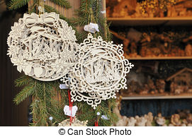 Stock Photography of leather stall at medieval market, esslingen.