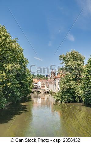 Stock Photos of Ross Neckar Canal in Esslingen am Neckar, Germany.