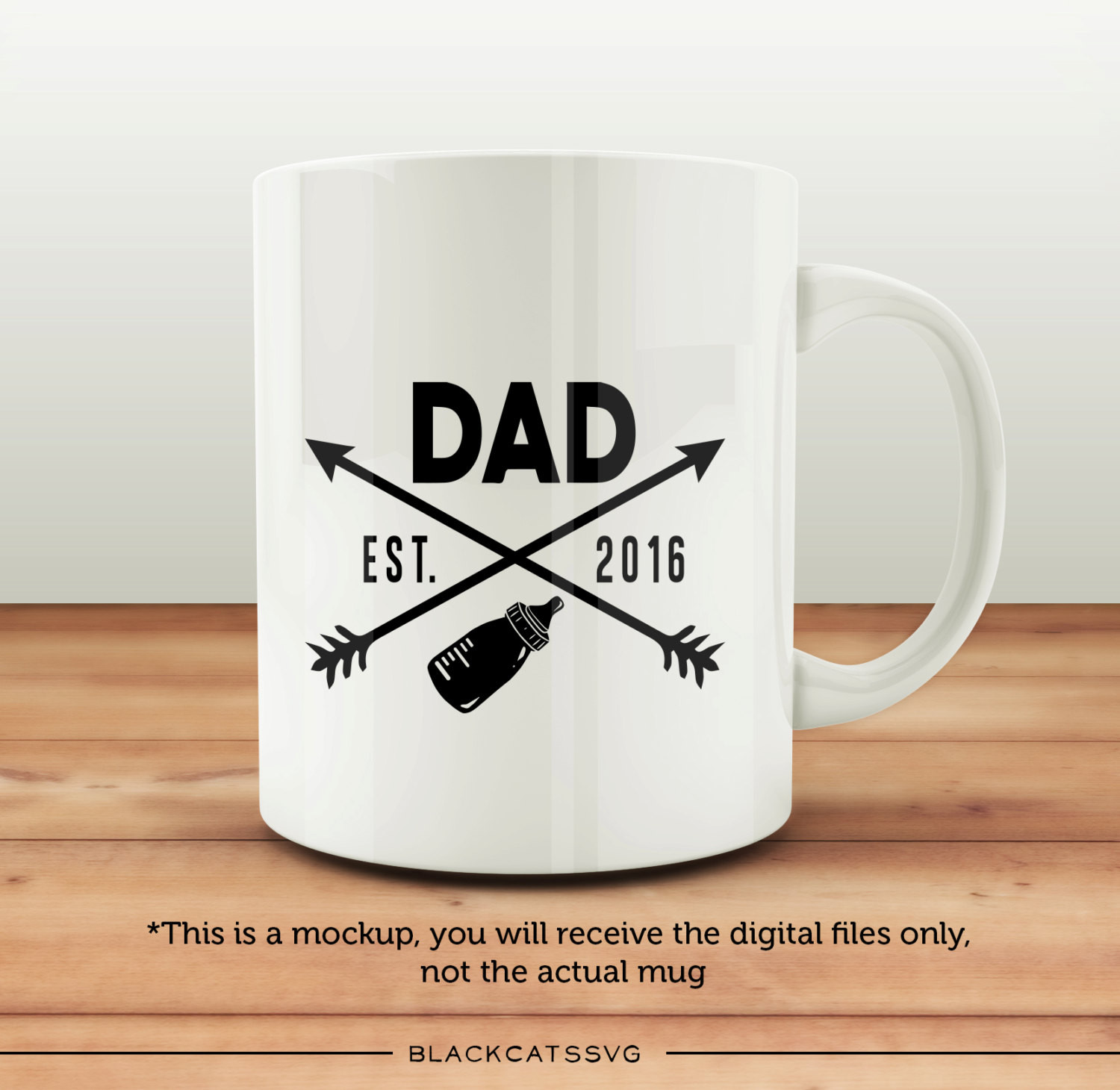 Dad est 2016 SVG file Cutting File Clipart in Svg, Eps, Dxf, Png.