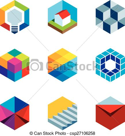 Clipart Vector of Innovation building future real estate virtual.