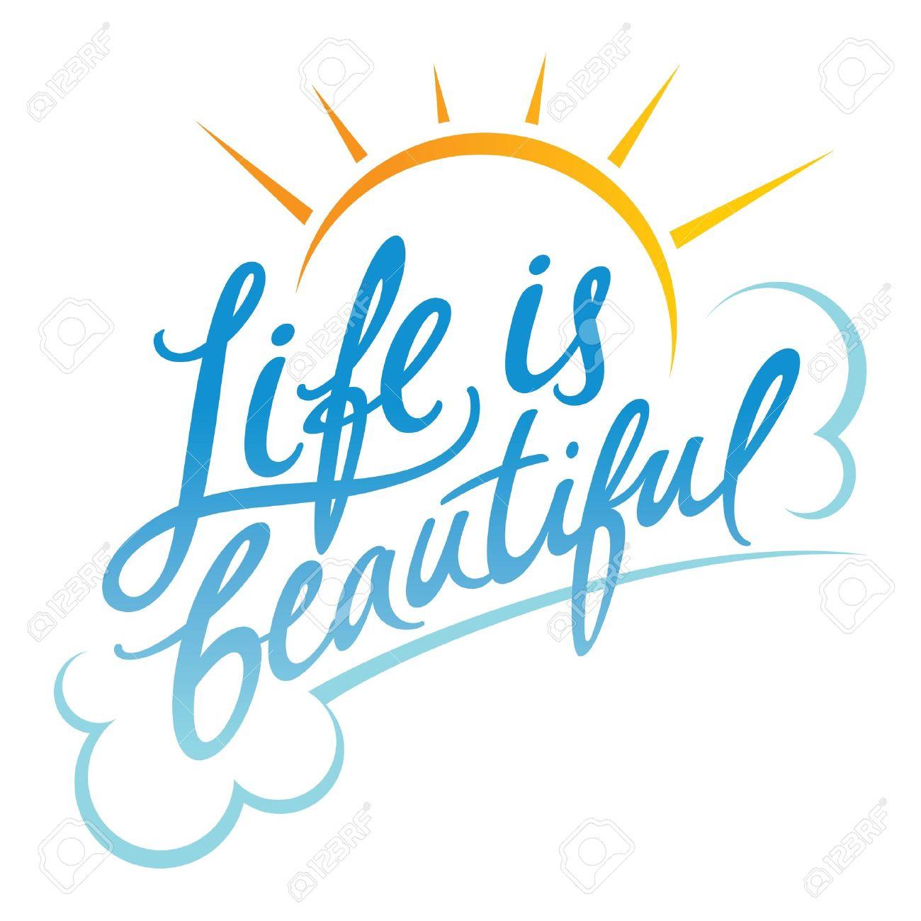 La vie est belle clipart.