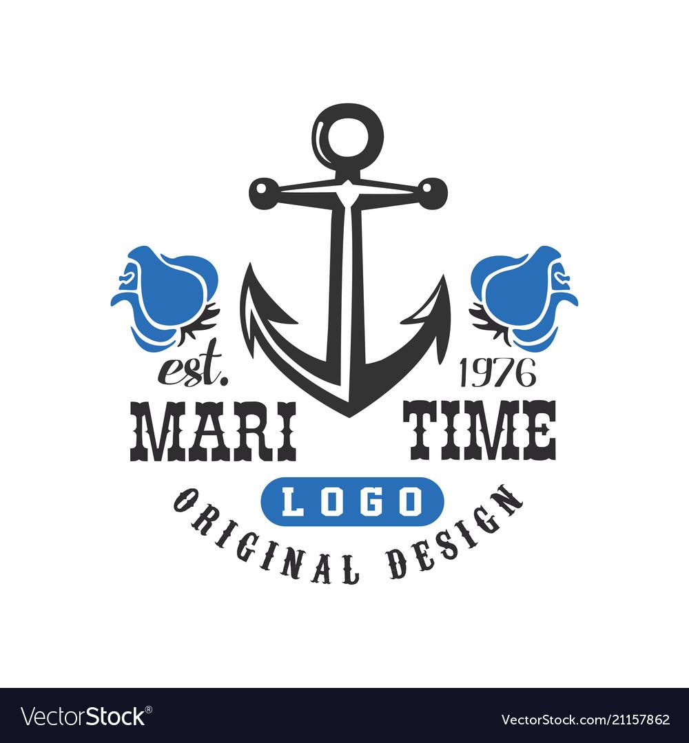 Maritime logo original design est 1976 retro.