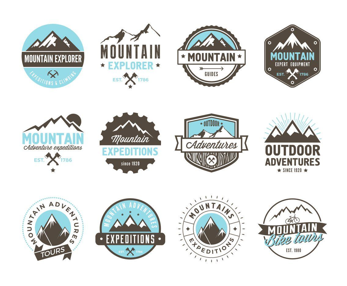 Download Free Mountain Adventure And Expedition Logo Badges.