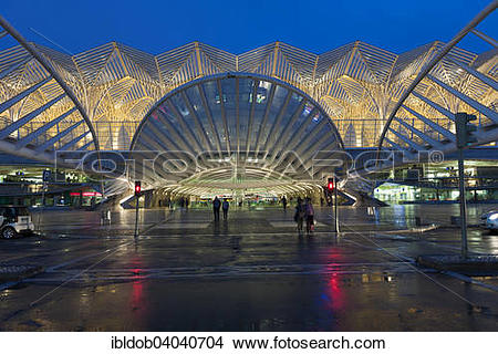 "Stock Photo of ""Gare do Oriente, Lisbon, Portugal, Europe."