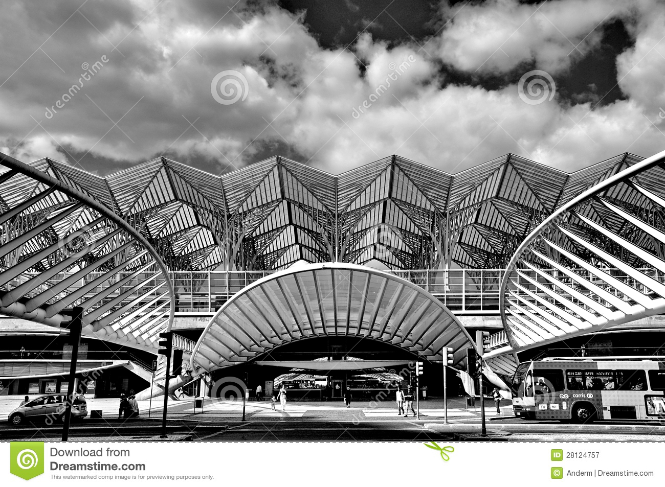 Gare De Oriente Railway Station, Lisbon Editorial Photography.
