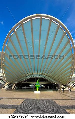 Stock Photo of Gare do Oriente railway station designed by.