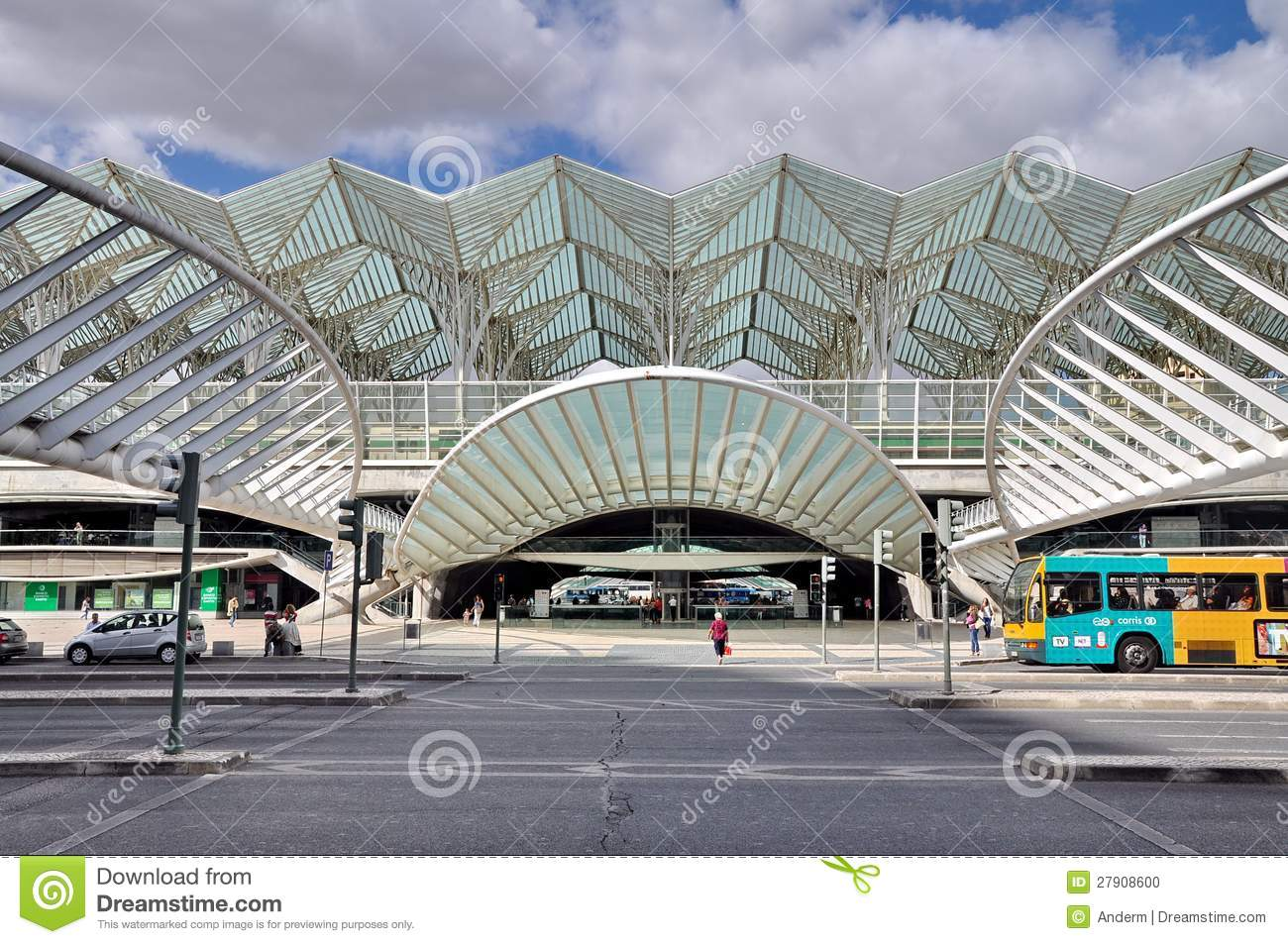 Gare Do Oriente, Lisbon Editorial Photo.