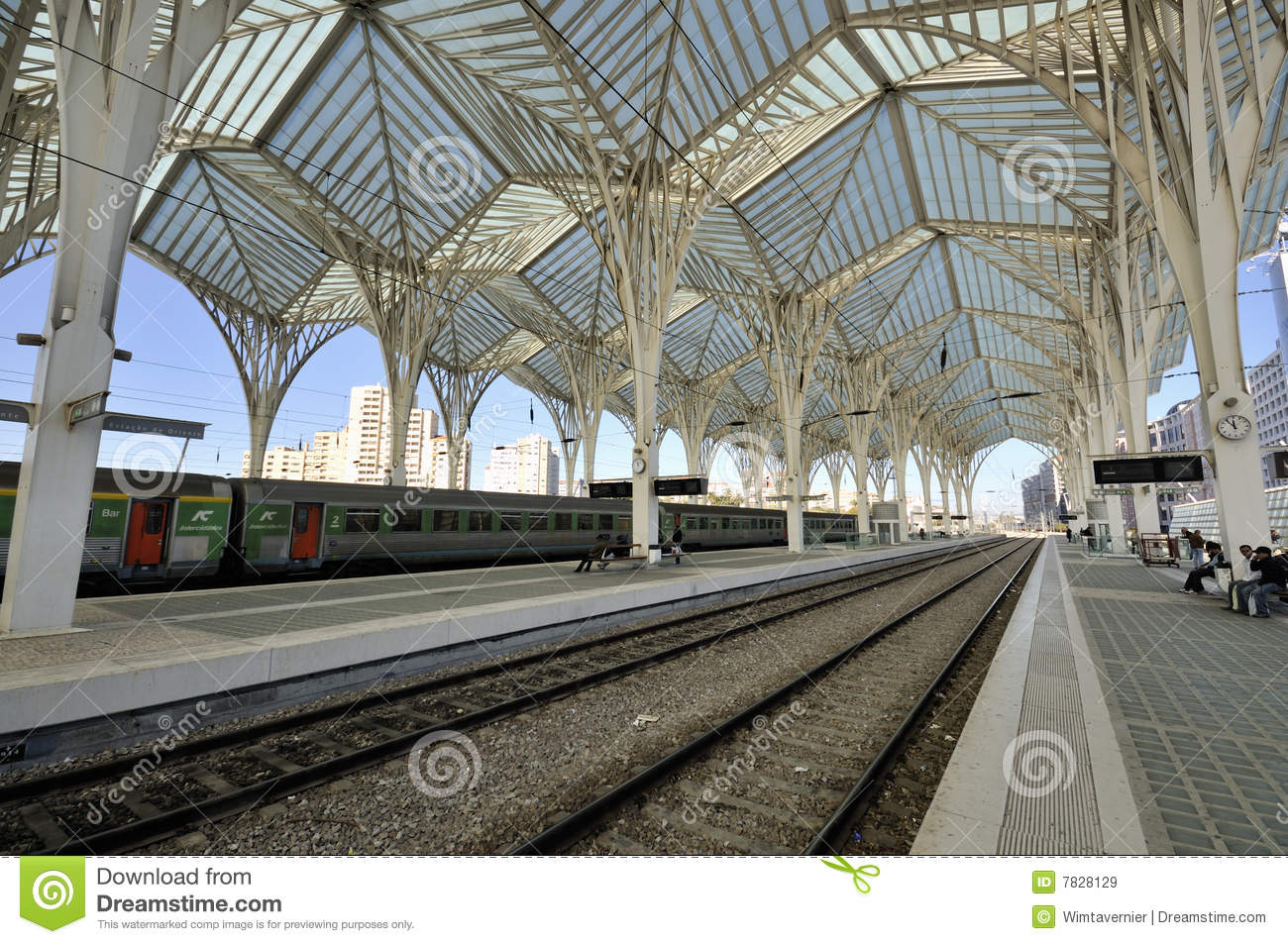 Gare Do Oriente, Lisbon Editorial Stock Image.