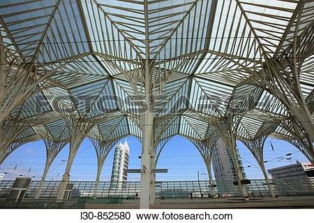 Stock Photography of Gare do Oriente transport hub by architect.