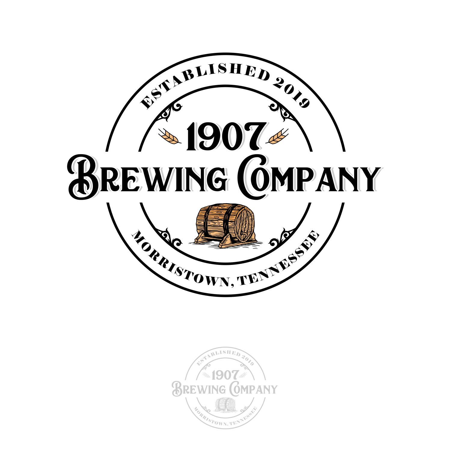 Serious, Traditional, Craft Brewery Logo Design for.