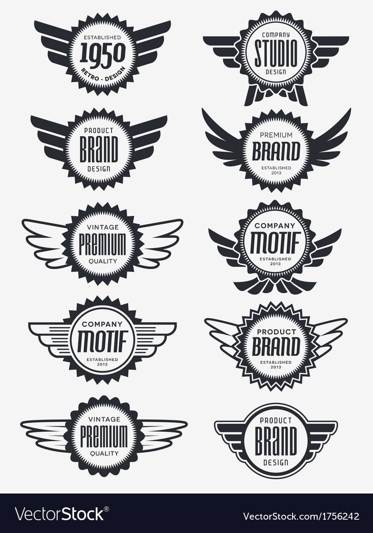 Retro Logo Badge Collection.