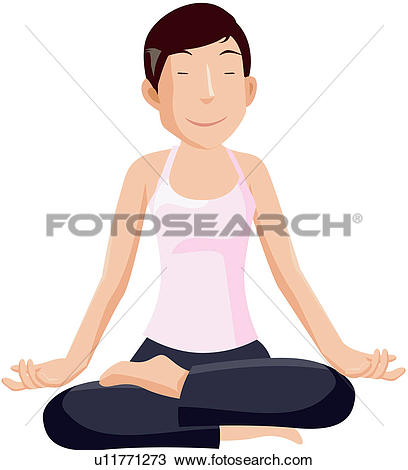 Clipart of legs, mediation, position, crossed, leisure u11771273.