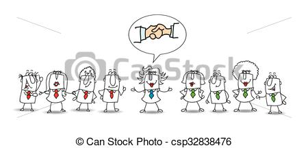 Vectors Illustration of Mediation between two working teams.