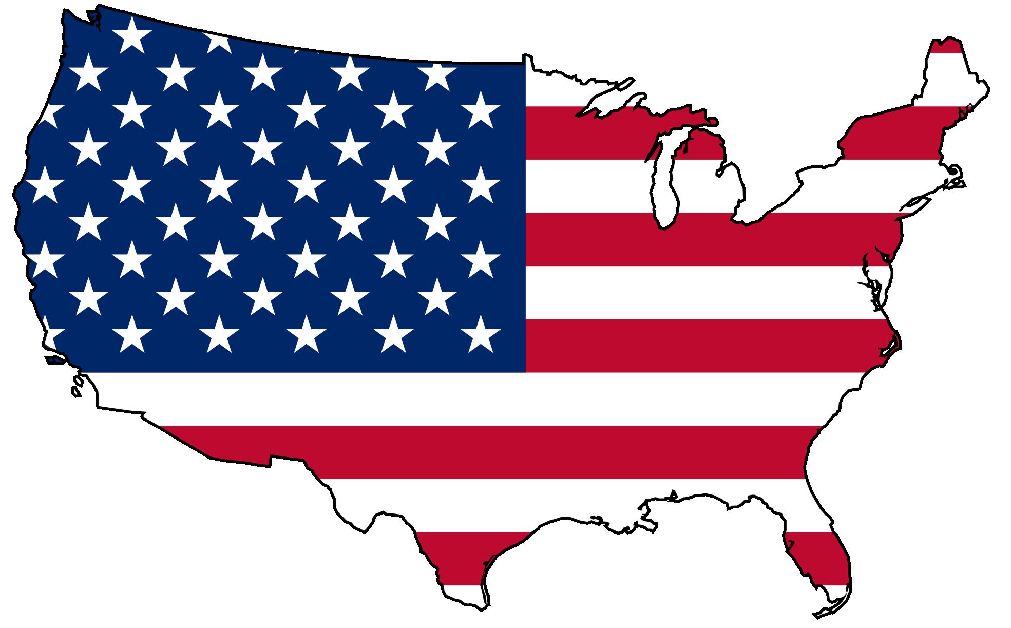 Us Flag Vector Clipart.