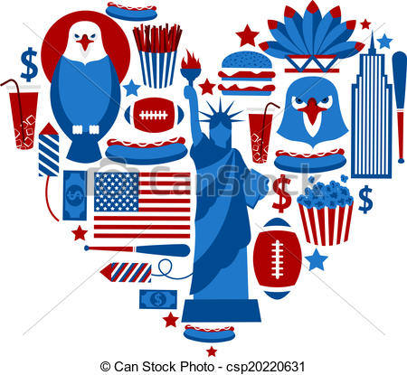 Usa travel clipart.
