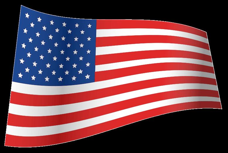 Bandera Estados Unidos Ola PNG transparente.