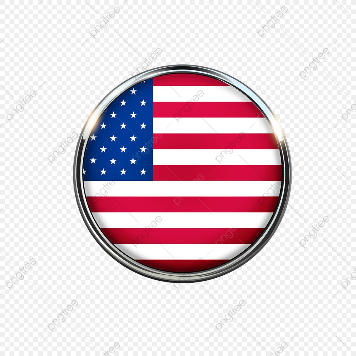 Los Estados Unidos Icono Redondo, América, American, Placa Archivo.
