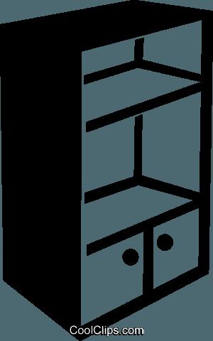 estantería libres de derechos ilustraciones de vectores.