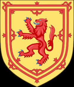 Estandarte Real da Escócia.