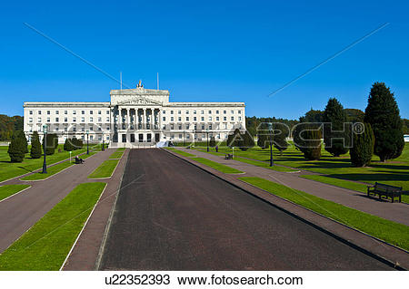 Stock Photo of Northern Ireland, County Down, Belfast. Parliament.