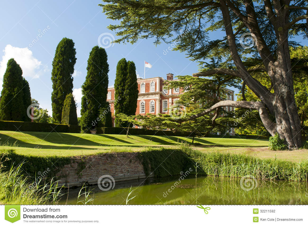 Estate Grounds Landscaping Stock Photography.