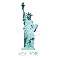 Geométrica Estátua Da Liberdade, Nova York, Eua Stock Vector.