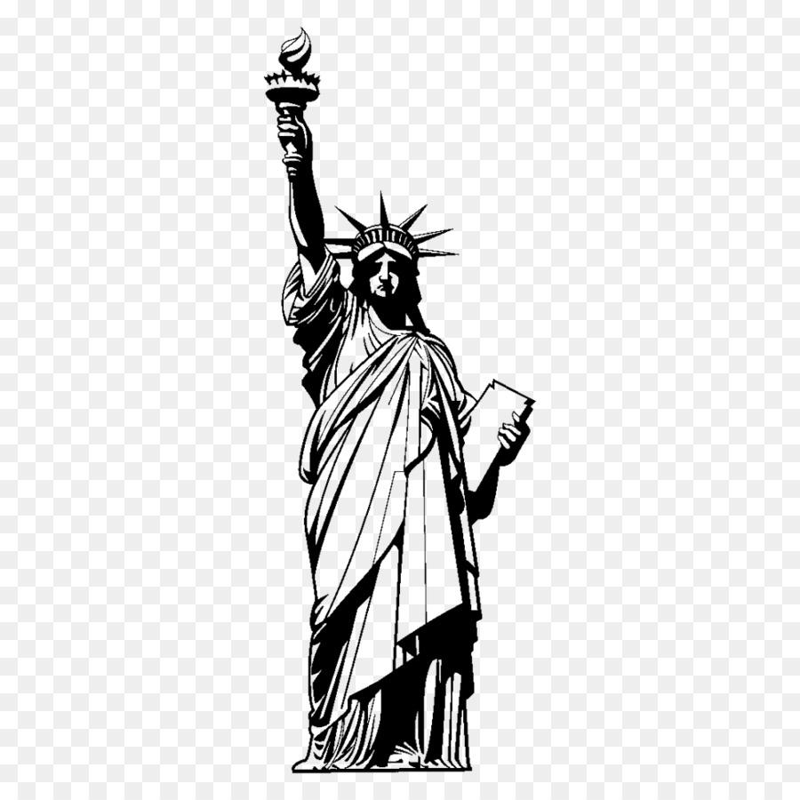 Estátua Da Liberdade, Estátua, Desenho png transparente grátis.