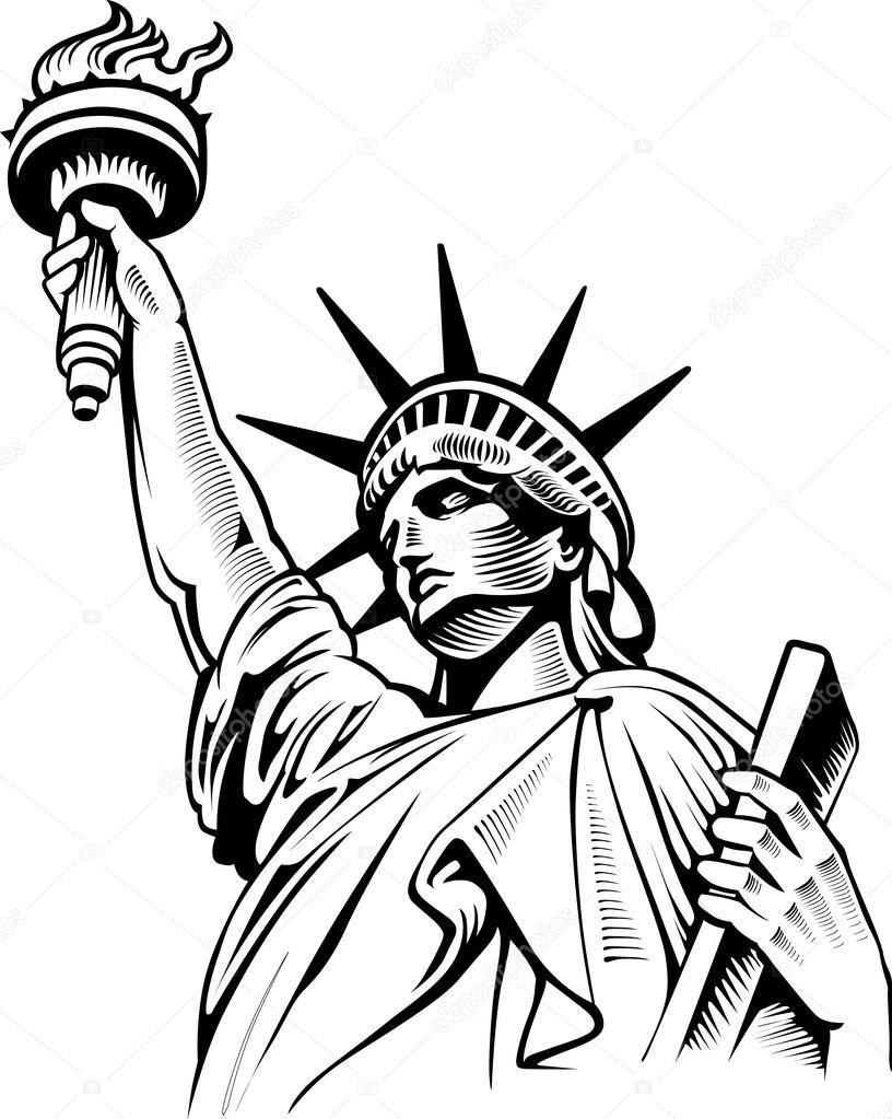 Estátua da liberdade em Nova Iorque.