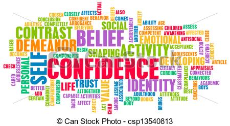 Self confidence clipart.