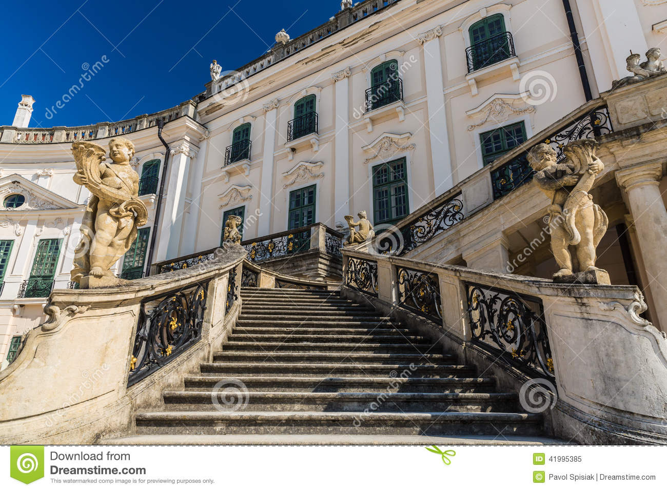 Stairs To Esterhazy Palace . Stock Photo.