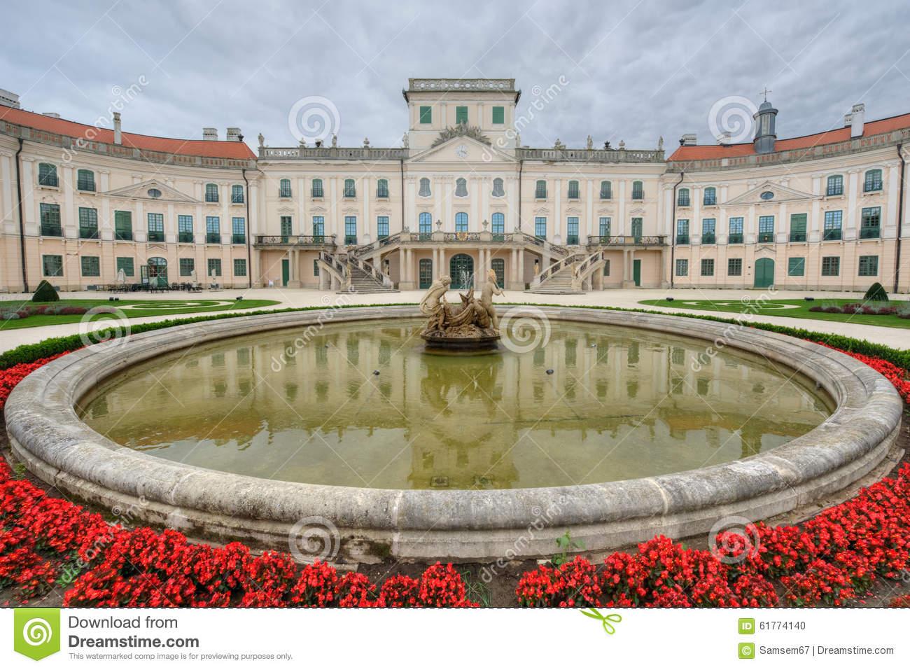 The Esterhazy Castle In Fertod, Hungary Stock Photo.