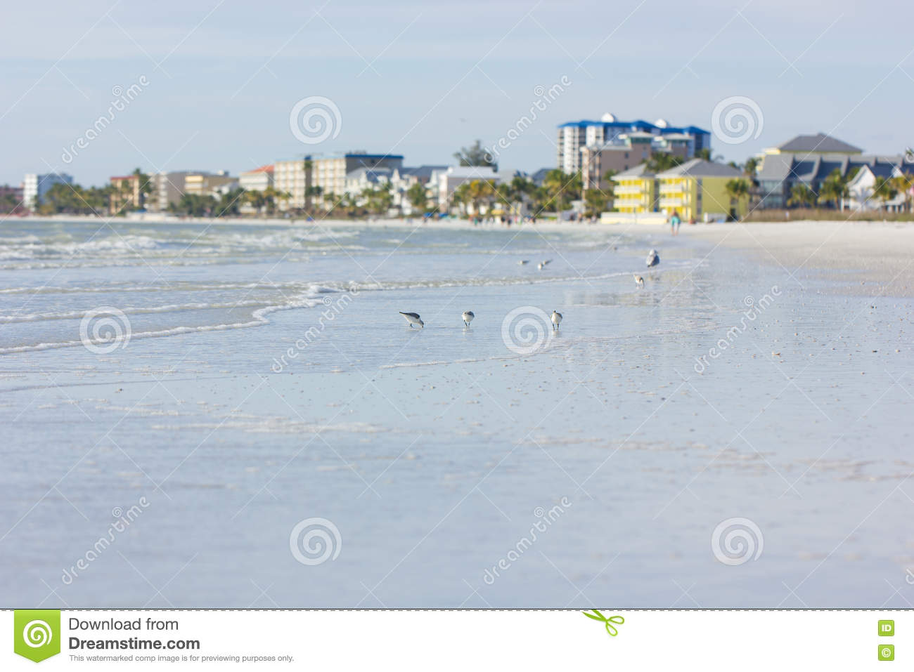 Estero Island In Florida Stock Photo.