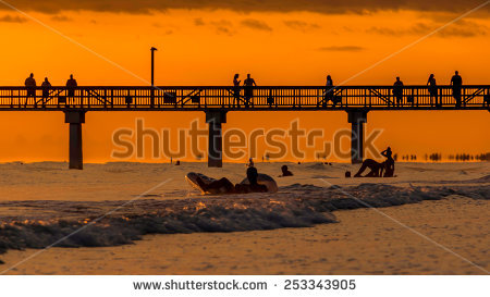 """fort Myers Beach Sunset"" Stock Photos, Royalty."