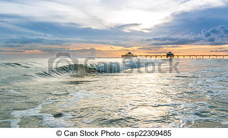 Pictures of Sunset on Fort Myers Beach.