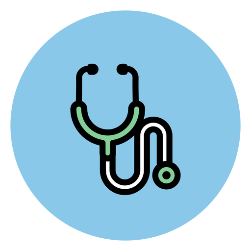 Iconos médicos de icono de estetoscopio.
