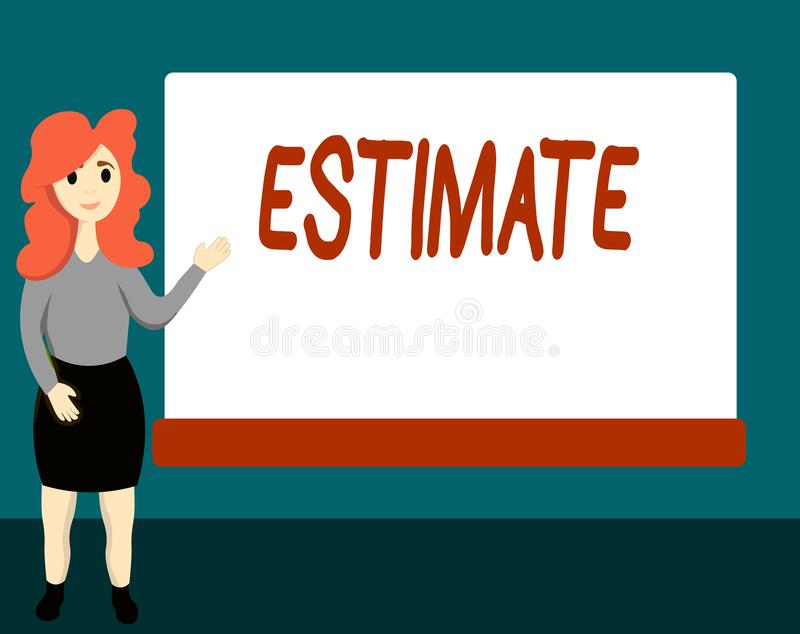Text Estimate Stock Illustrations.