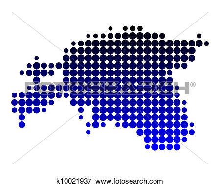 Clip Art of Map of Estonia k10021937.
