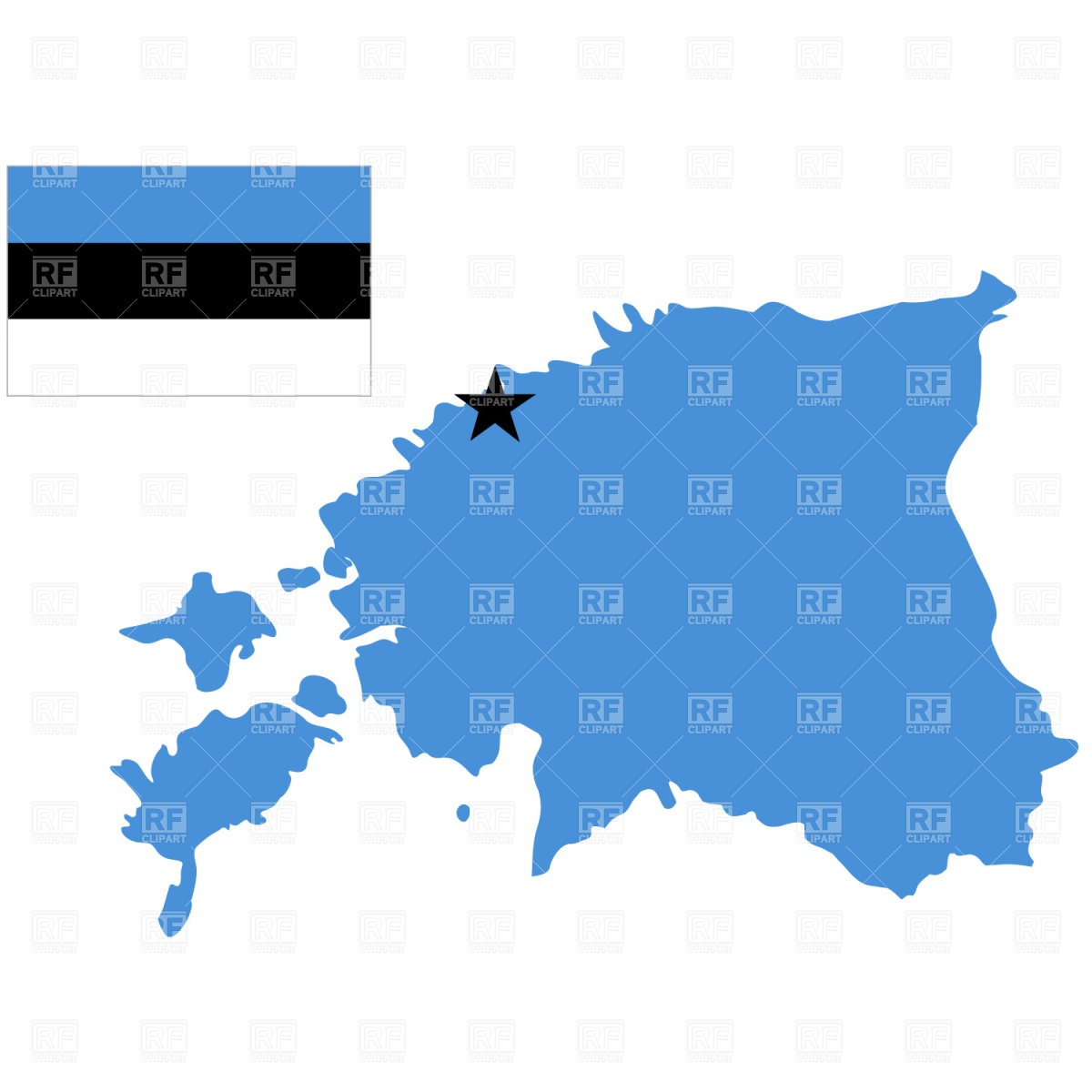 Estonia map outline and flag Vector Image #858.