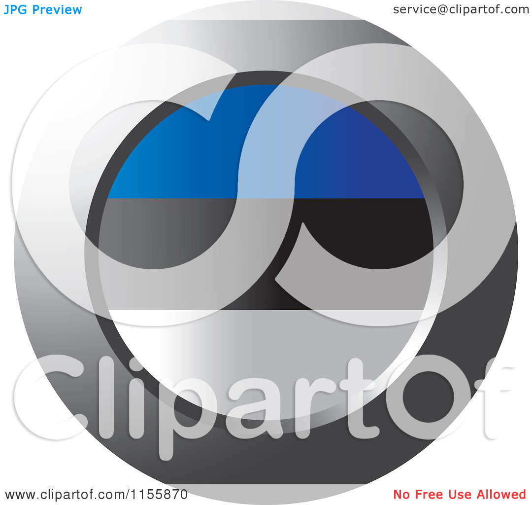 Clipart of a Chrome Ring and Estonian Flag Icon.