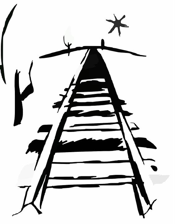 Free vector graphic: Railroad, Railway Line, Rail Track.