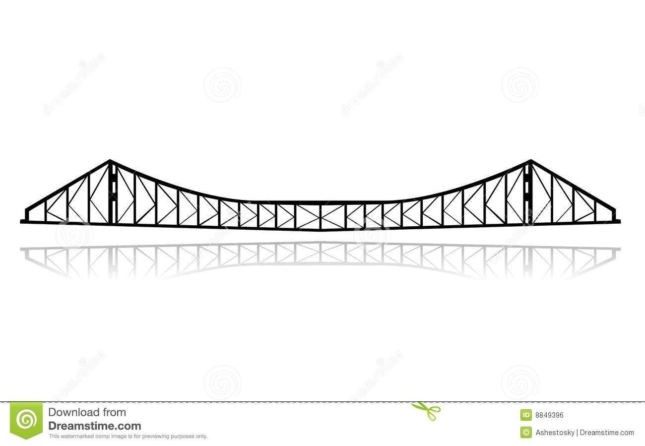 Vetor Da Ponte De Balsa Da Estrada De Ferro Imagem de Stock.